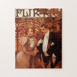 Alphonse Mucha Flirt Puzzle