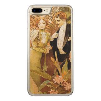 Alphonse Mucha Flirt Vintage Romantic Art Nouveau Carved iPhone 8 Plus/7 Plus Case