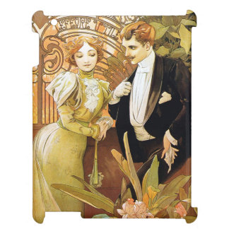 Alphonse Mucha Flirt Vintage Romantic Art Nouveau Case For The iPad 2 3 4