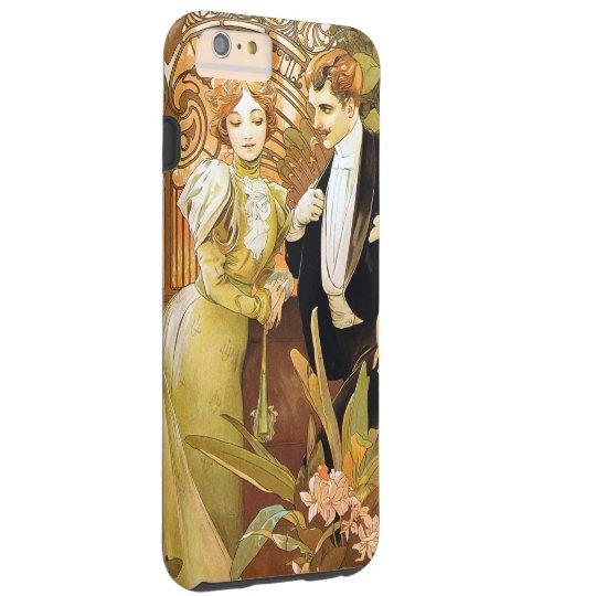 Alphonse Mucha Flirt Vintage Romantic Art Nouveau Tough