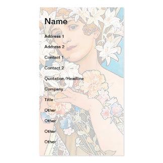 Alphonse Mucha - Flower Business Card Template