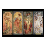 Alphonse Mucha ~ Four Seasons Poster