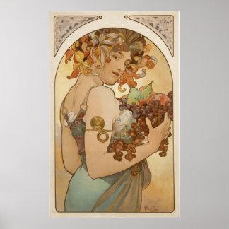 Alphonse Mucha - Fruit - Print
