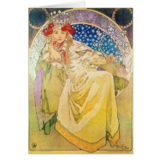 Alphonse Mucha Goddess Greeting Card