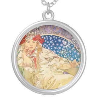 Alphonse Mucha Goddess Custom Necklace
