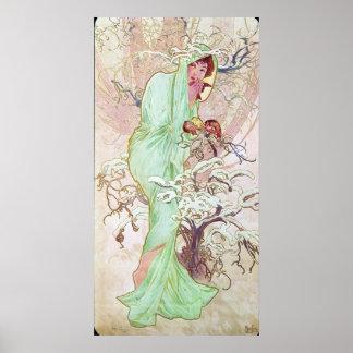 Alphonse Mucha Hiver/Winter, 1896 Poster