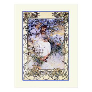 Alphonse Mucha illustration: The Beatitudes Postcard