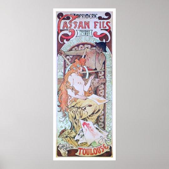 Alphonse Mucha. Imprimerie Cassan Fils, 1897 Poster