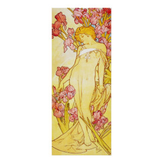 Alphonse Mucha Iris Poster