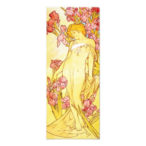 Alphonse Mucha Iris Print Art Photo