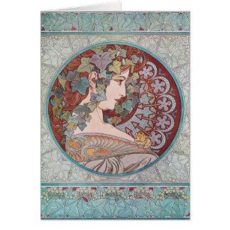 Alphonse Mucha Ivy Art Nouveau Note Cards