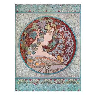 Alphonse Mucha Ivy Art Nouveau Postcards