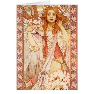Alphonse Mucha Joan of Arc Greeting Card