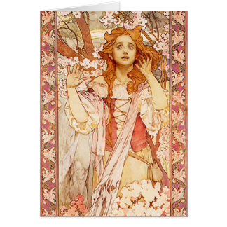 Alphonse Mucha Joan of Arc Note Card