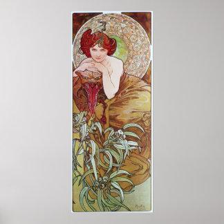Alphonse Mucha.L 'Emeraude/Emerald, 1900 Poster