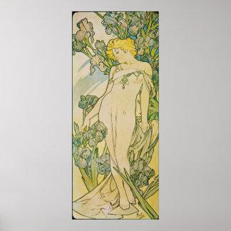 Alphonse Mucha. L 'Iris/Iris, 1897 Poster
