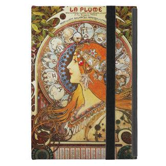 Alphonse Mucha La Plume Zodiac Art Nouveau Vintage Cases For iPad Mini