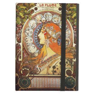 Alphonse Mucha La Plume Zodiac Art Nouveau Vintage Cover For iPad Air