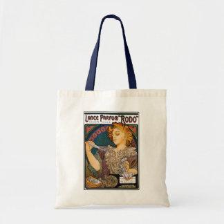 "Alphonse Mucha- Lance Parfum ""Rodo"" - Perfume Ad Canvas Bags"