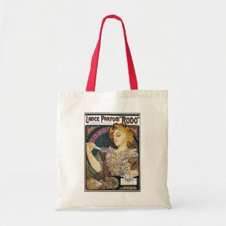 "Alphonse Mucha- Lance Parfum ""Rodo"" - Perfume Ad Budget Tote Bag"