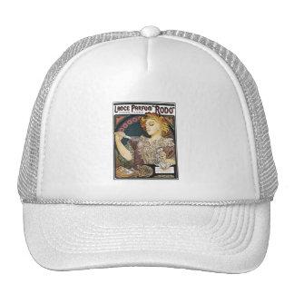 Alphonse Mucha- Lance Parfum Rodo - Perfume Ad Mesh Hats