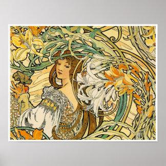 Alphonse Mucha:  Language of Flowers Print
