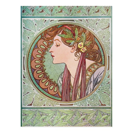 Alphonse Mucha Laurel Art Nouveau Postcards
