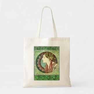 Alphonse Mucha Laurel Tote Bag