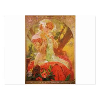 Alphonse Mucha LeFevre Utile Postcard