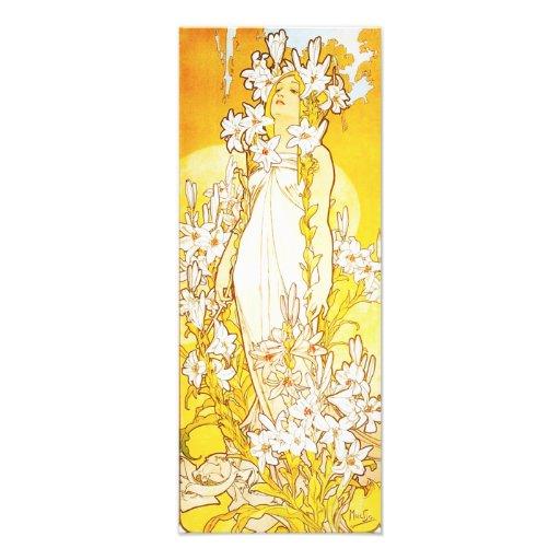 Alphonse Mucha Lily Print Photo Print