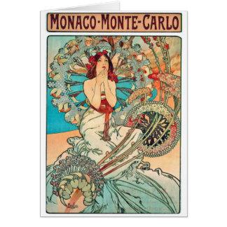 Alphonse Mucha Monaco Monte-Carlo 1897 Card