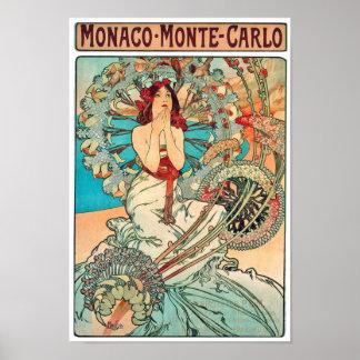 Alphonse Mucha Monaco, Monte-Carlo, 1897 Posters