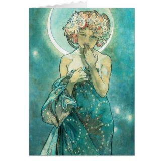 Alphonse Mucha Moonlight Clair De Lune Art Nouveau Card