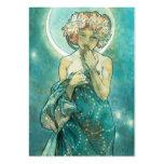 Alphonse Mucha Moonlight Clair De Lune Art Nouveau Pack Of Chubby Business Cards