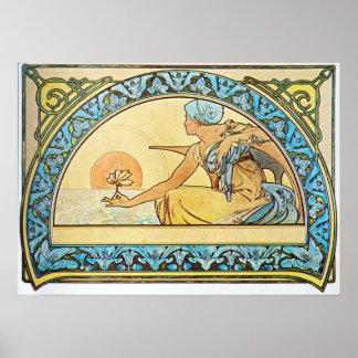 Alphonse Mucha. Nenuphar/Waterlily, 1898 Poster