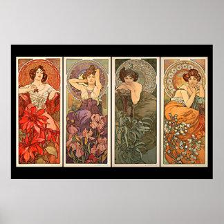 Alphonse Mucha Precious Stones Poster