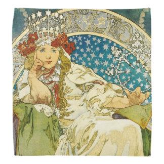 Alphonse Mucha Princess Hyacinth Art Nouveau Bandanas