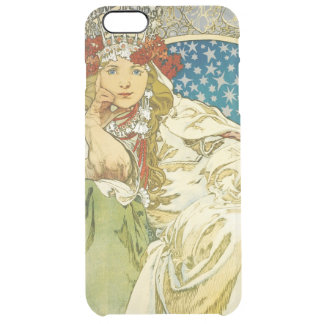 Alphonse Mucha Princess Hyacinth Art Nouveau Clear iPhone 6 Plus Case