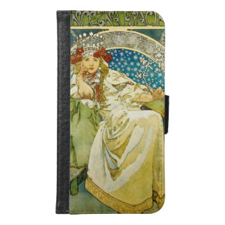 Alphonse Mucha Princess Hyacinth Art Nouveau Samsung Galaxy S6 Wallet Case