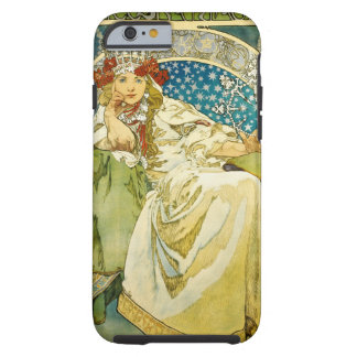 Alphonse Mucha Princess Hyacinth Art Nouveau Tough iPhone 6 Case