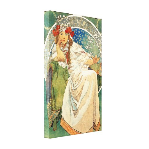 Alphonse Mucha Princess Hyacinth Canvas Poster Stretched Canvas Prints