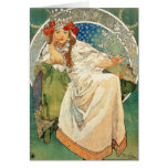 Alphonse Mucha Princess Hyacinth Greeting Card