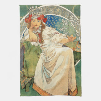 Alphonse Mucha Princess Hyacinth Kitchen Towel