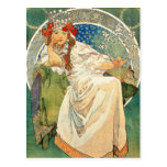 Alphonse Mucha Princess Hyacinth Postcard