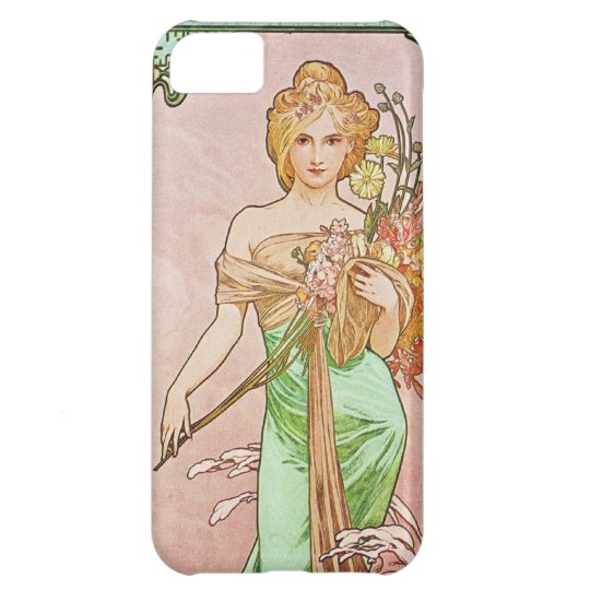 Alphonse Mucha Printemps Spring iPhone 5 Case