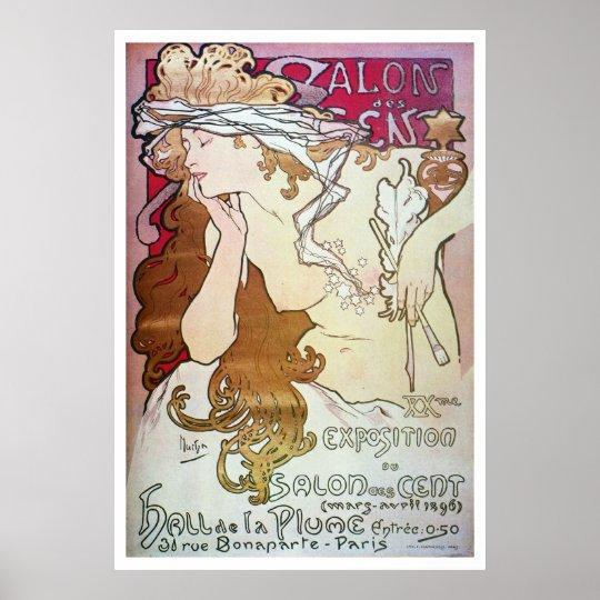 Alphonse Mucha. Salon Des Cent, 1896 Poster