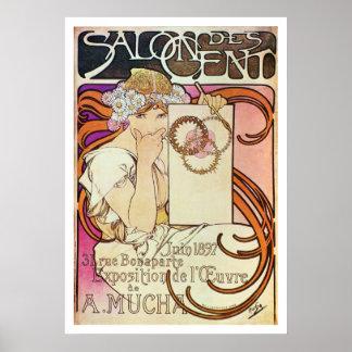 Alphonse Mucha. Salon Des Cent, 1897 Poster