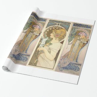 Alphonse Mucha - Sarah Bernhard Painting Wrapping Paper