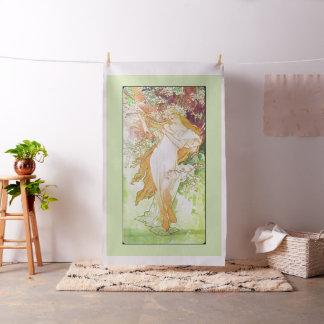 Alphonse Mucha Spring Floral Vintage Art Nouveau Fabric