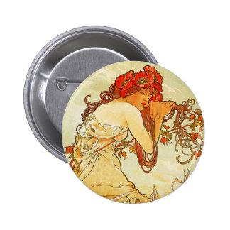 Alphonse Mucha Summer Button